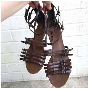 J. Crew Made in Italy Leather Gladiator Sandals